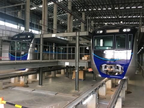 Rangkaian kereta MRT Jakarta. Foto: Medcom.id/Dian Ihsan Siregar