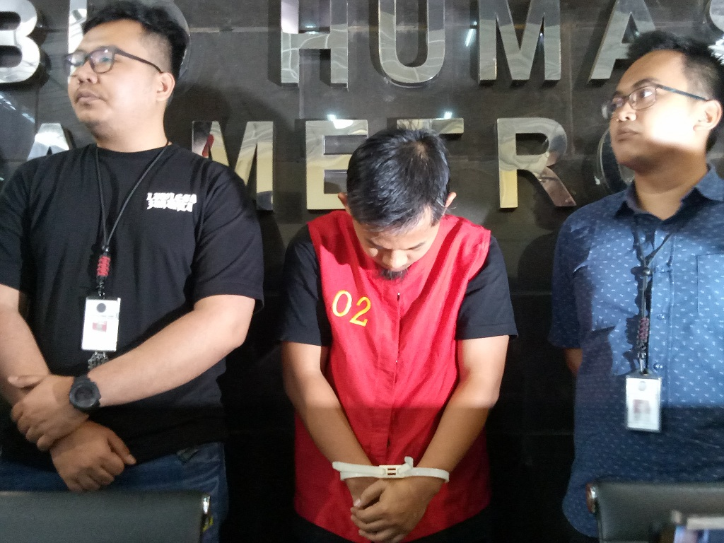 Tersangka hoaks surat tercoblos - Medcom.id/Siti Yona Hukmana.