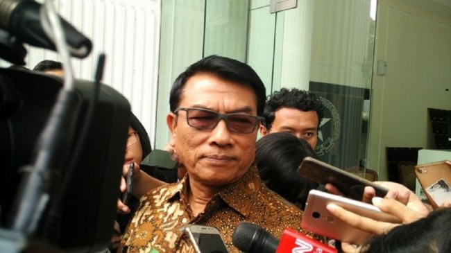 Deputy Chairman of the National Campaign Team of the Indonesia Working Coalition Moeldoko. (Photo:Medcom.id/Dheri)