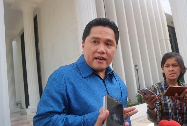 Ketua Tim Kampanye Nasional Koalisi Indonesia Kerja (TKN-KIK) Erick Thohir--Medcom.id/Dheri Agriesta.