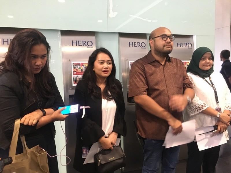 najemen Hero Grup, memberikan keterangan pers, Jumat 11 Januari 2019.