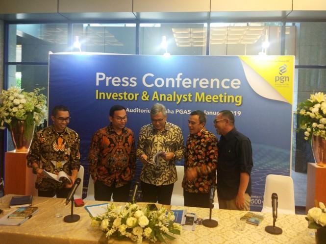 Direktur Utama PGN Gigih Prakoso (tengah). (FOTO: Medcom.id/Annisa Ayu)