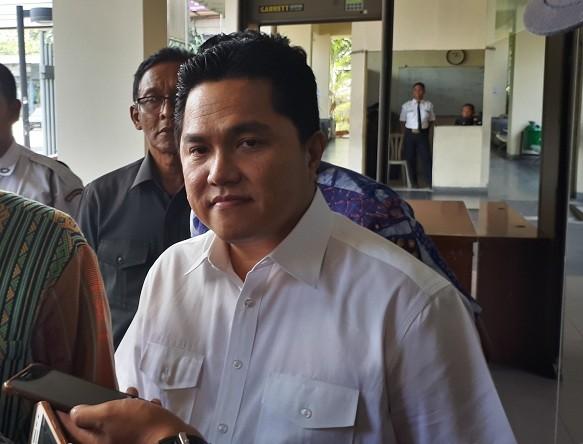 Ketua Tim Kampanye Nasional (TKN) pasangan calon presiden dan calon wakil presiden Joko Widodo-Ma'ruf Amin, Erick Thohir - Medcom.id/Faisal Abdalla.