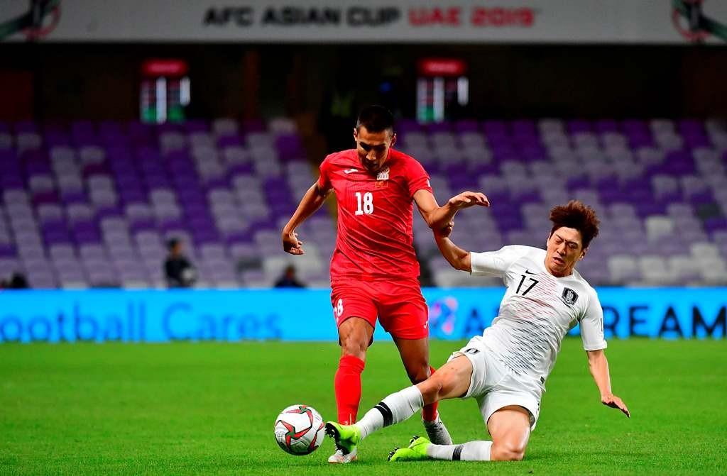Suasana pertandingan Korea Selatan kontra Kirgizstan (AFP/Giuseppe Cacace)