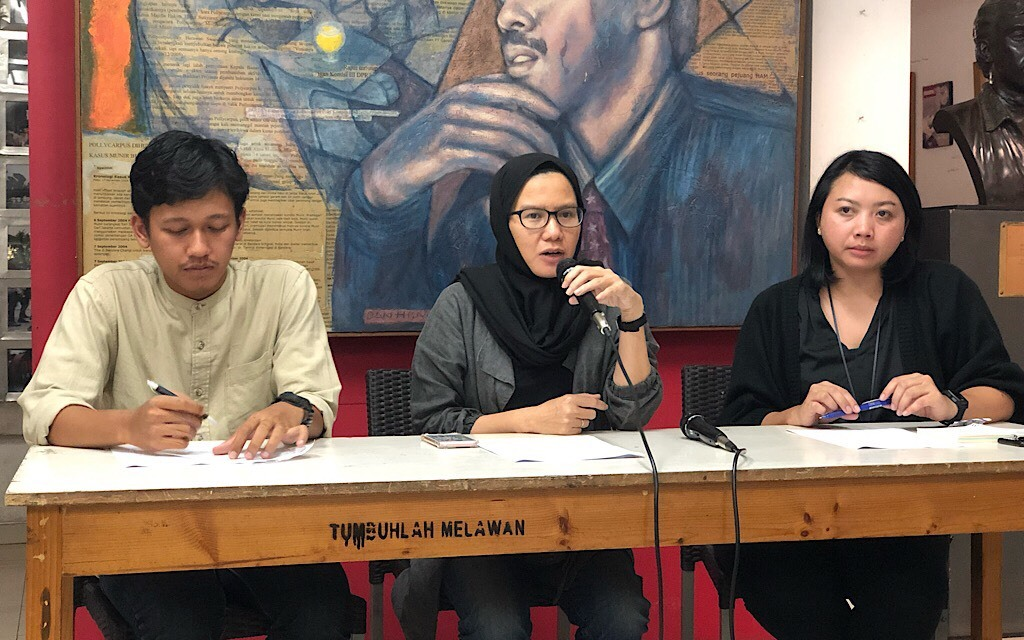 Konferensi pers KontraS soal sikap KPU - Medcom.id/Theofilus Ifan Sucipto.