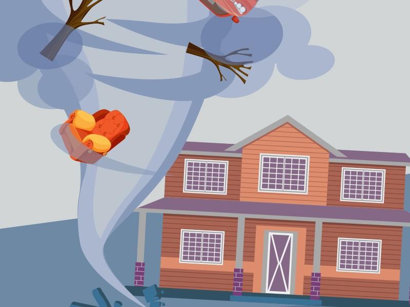 Ilustrasi angin puting beliung, Medcom.id - M Rizal (Antara, Cikwan Suwandi)