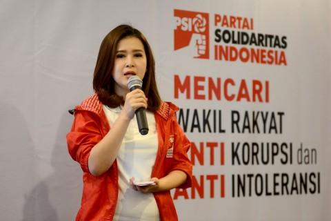 Ketua Umum Partai Solidaritas Indonesia Grace Natalie. MI/Susanto.