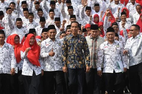 Presiden Jokowi Silaturahmi dengan Para Guru