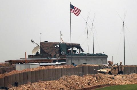 Salah satu pos militer AS di kota Manbij, Suriah, 26 Desember