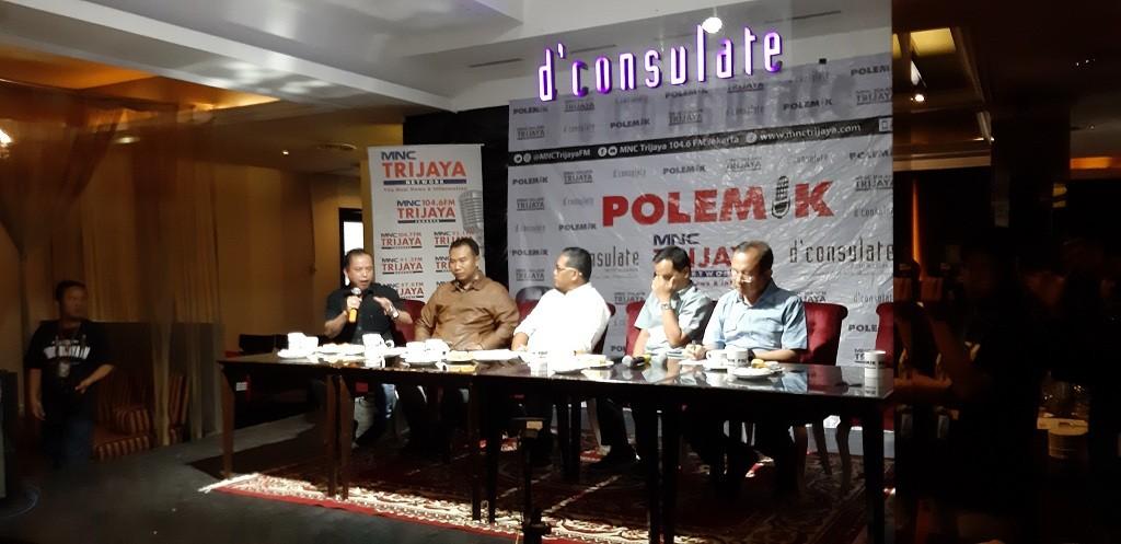 Diskusi 'Jelang Debat Siapa Hebat' - Medcom.id/Whisu Mardiansyah.