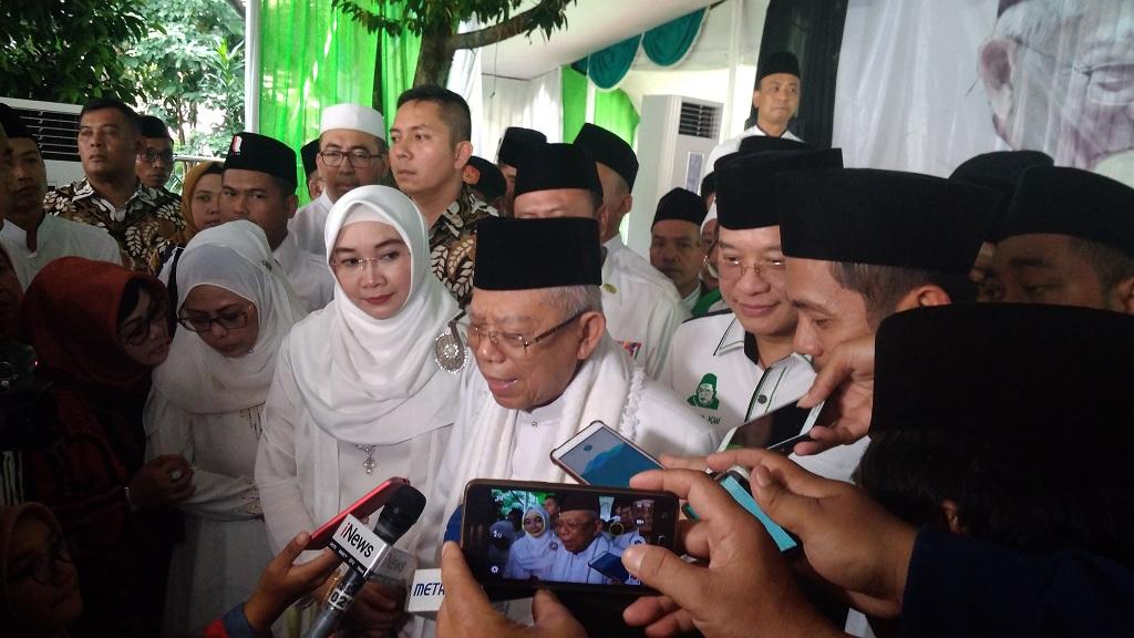 Calon wakil presiden nomor urut 01 Ma'ruf Amin - Medcom.id/Candra Yuri Nuralam.