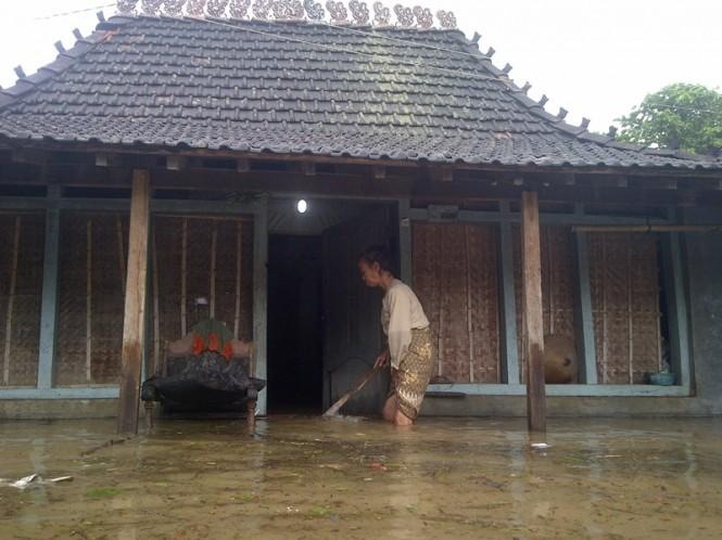 Banjir di Desa Batukali Kecamatan Kalinyamatan pada 2014. Medcom.id/Rhobi Shani