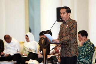 Jokowi Pamer Pemberian Dana Desa dan Pembangunan Infrastruktur