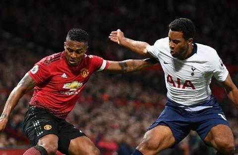 Tottenham vs Manchester United (Foto Twitter Man United)