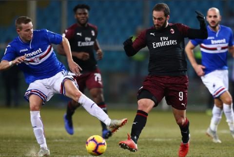 Milan Susah Payah Singkirkan Sampdoria demi Perempat Final