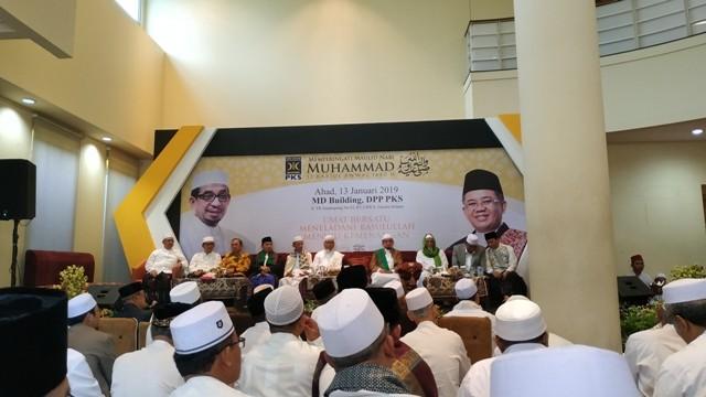 Perayaan Maulid Nabi di PKS/Medcom.id/Ilham Pratama