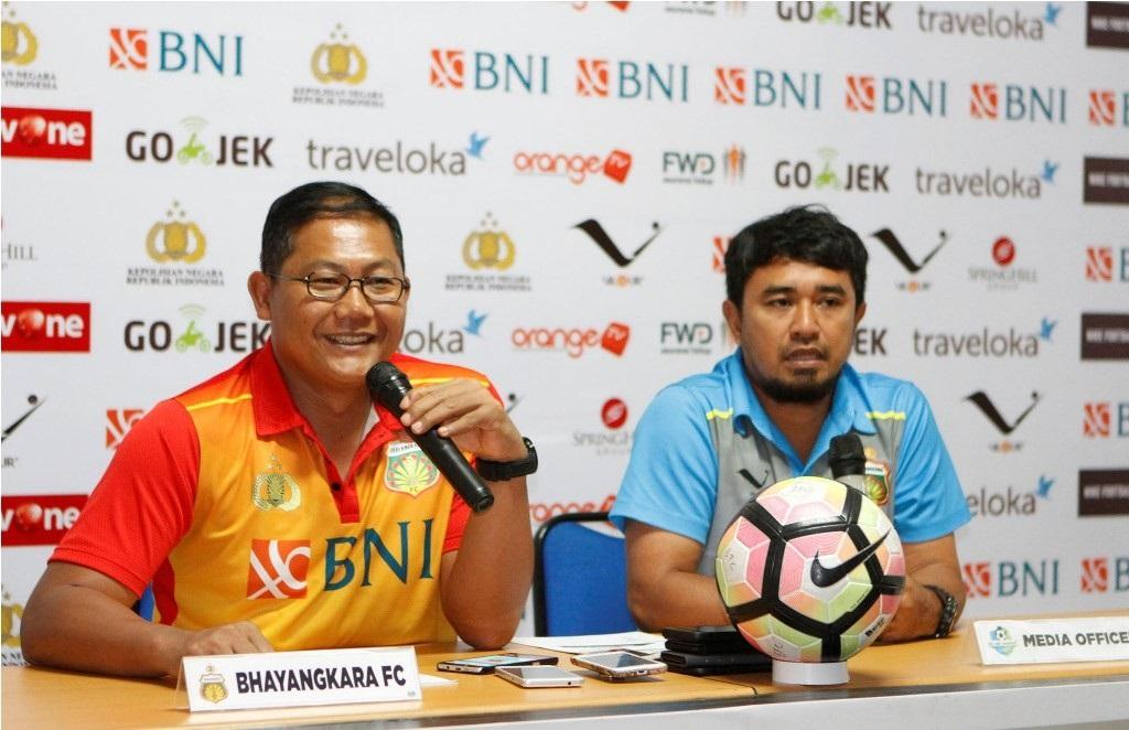 Manajer Bhayangkara FC, AKBP SUmardji (kiri) (Istimewa)