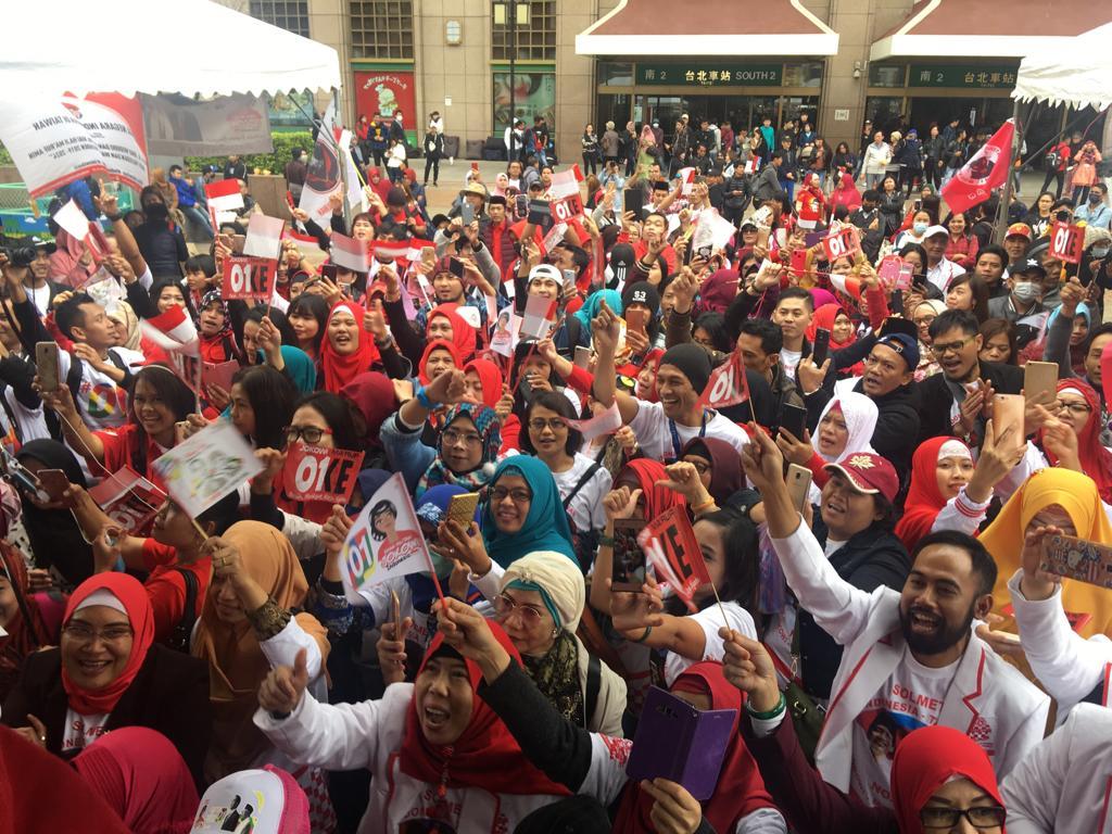 Relawan di Taiwan deklarasi dukungan untuk Jokowi-Ma'ruf. (Ist)