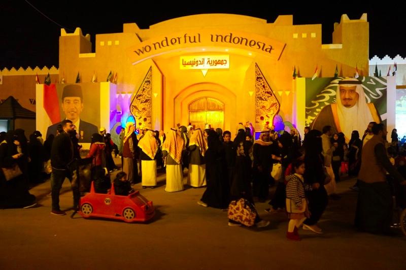 Pavilion Indonesia dalam Festival Janadriyah ke-33 selalu ramai oleh warga Arab Saudi. (Foto: Dok.KBRI Riyadh).
