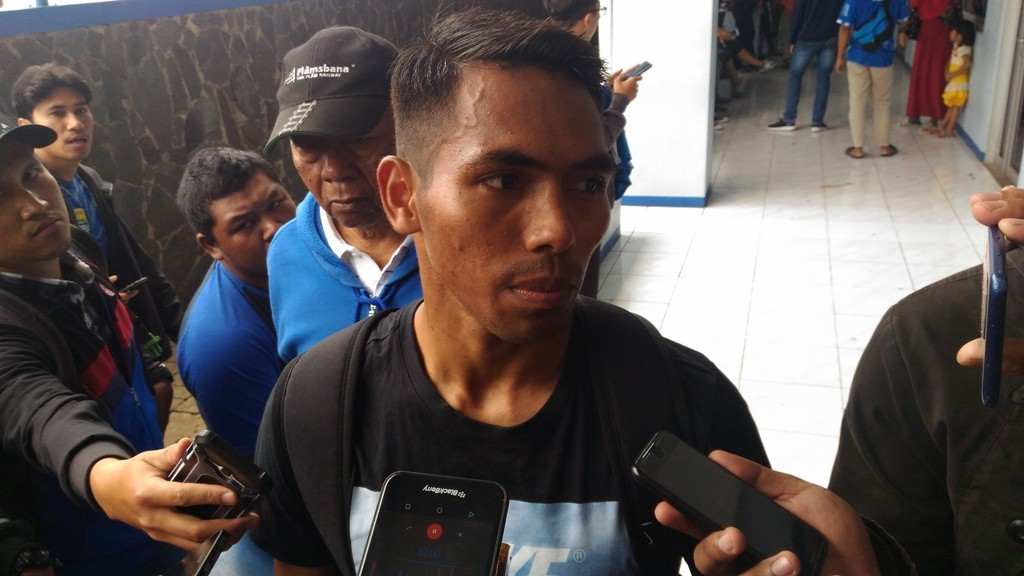 Frets Butuan Pemain baru Persib yang didatangkan dari PSMS Medan (Foto: Roni Kurniawan)