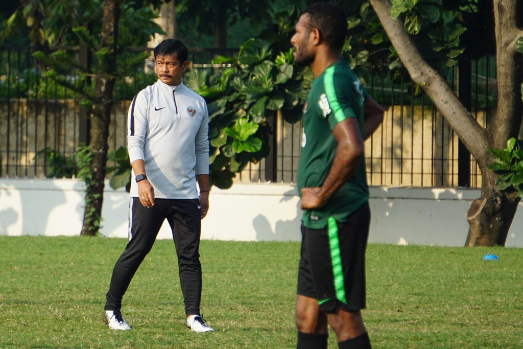 Indra Sjafri saat memimpin pemusatan latihan Timnas U-22 jelang tampil di Piala AFF U-22. (Foto: medcom.id/Kautsar Halim)