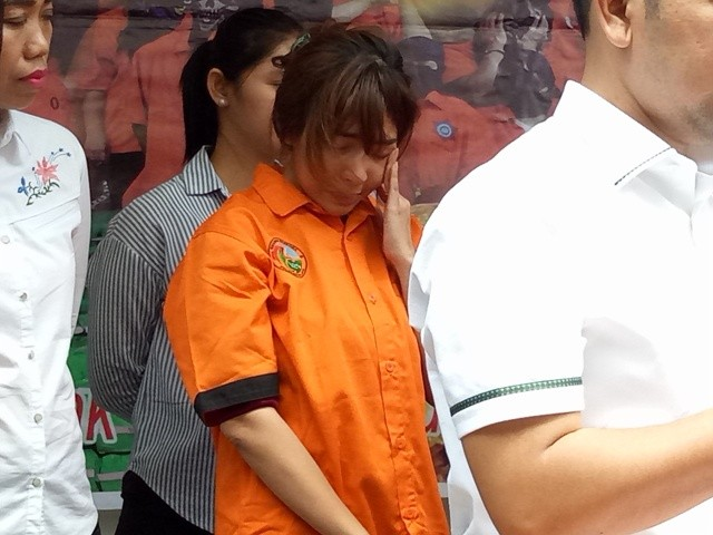 Penyanyi duo molek, Caca Molek alias Cahya Wulan Sari (CWS)--Medcom.id/Siti Yona Hukmana.