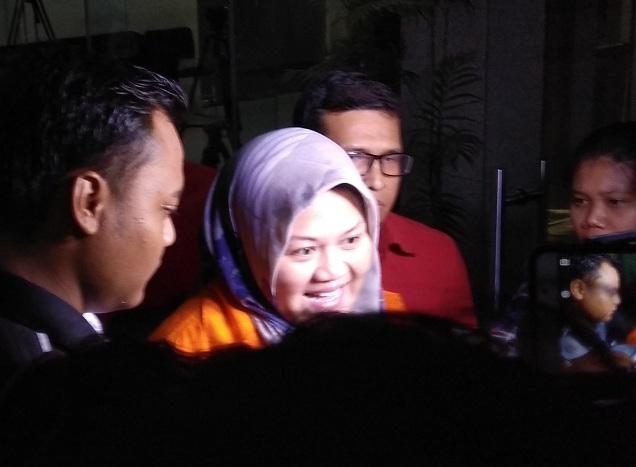 Bupati nonaktif Bekasi Neneng Hasanah Yasin - Medcom.id/Fachri Audhia Hafiez.
