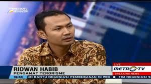Pengamat terorisme Ridlwan Habib. (Foto: Metro TV)