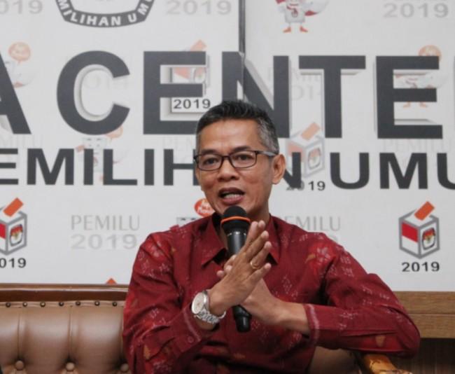 Komisioner KPU Wahyu Setiawan. Foto: Antara/Reno Esnir