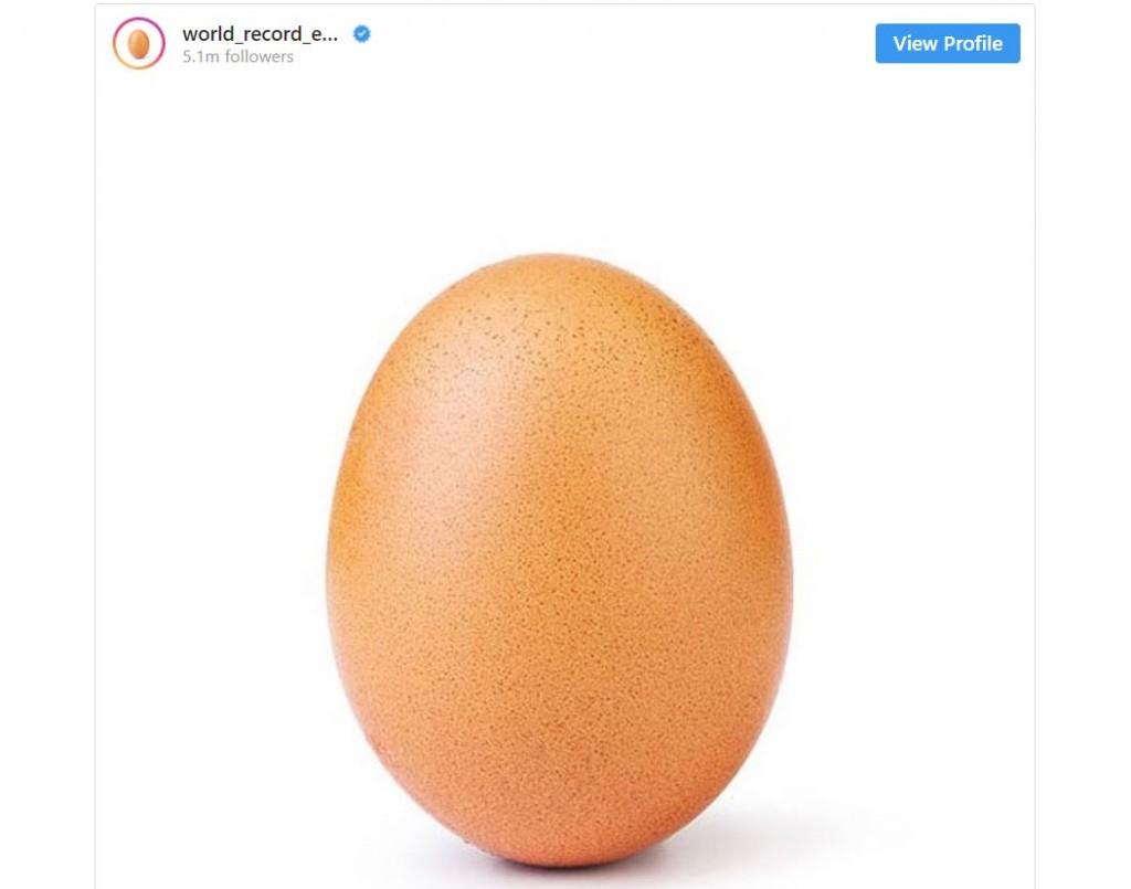 Foto telur kini menjadi foto dengan jumlah Like terbanyak.