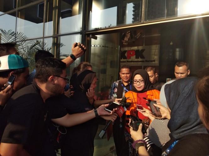 Terdakwa kasus suap Pembangkit Listrik Tenaga Uap Mulut Tambang (PLTU)  Riau-1 Eni Maulani Saragih - Medcom.id/Sunnaholomi Halakrispen.
