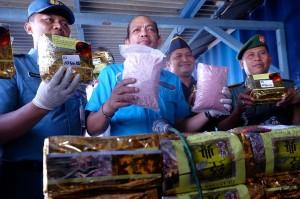 BNN Gagalkan Penyelundupan 70 Kg Sabu dari Malaysia