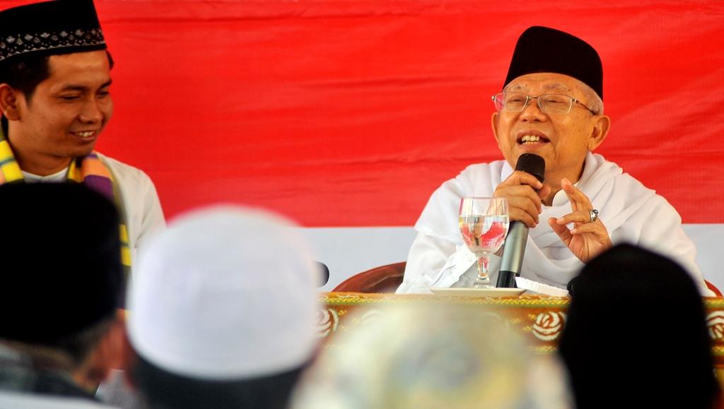 Calon wakil presiden nomor urut 01 Ma'ruf Amin. ANT/Asep F.