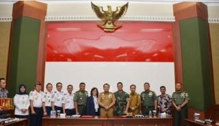 TNI AD-Pemda Lampung Bahas Wacana Komersialisasi Lanunad Gatot Subroto