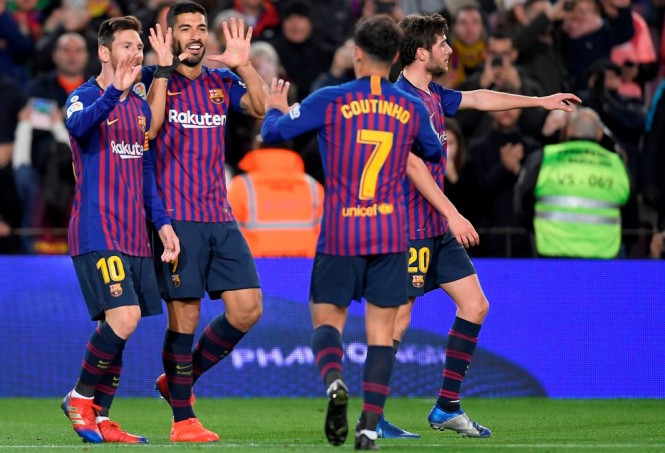 Skuat Barcelona (AFP/Lluis Gene)