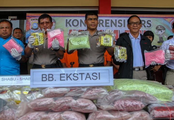 Polda Riau Sita 37 Kg Sabu Asal Malaysia
