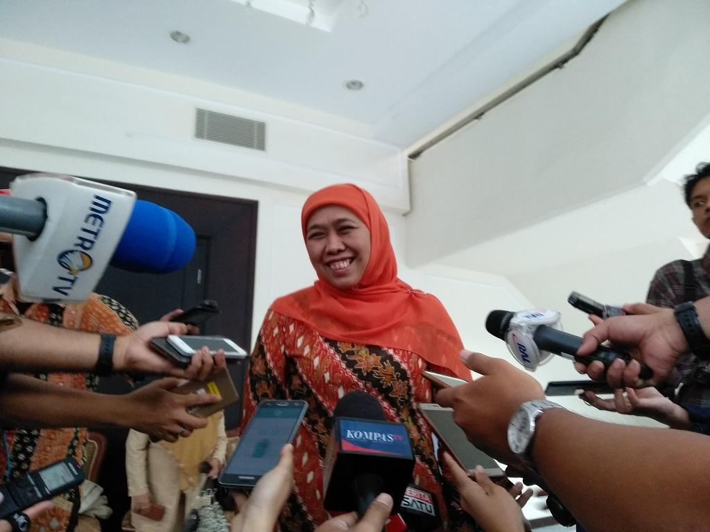 Gubernur terpilih Jawa Timur Khofifah Indar Parawansa - Medcom.id/Desi Anggraini.