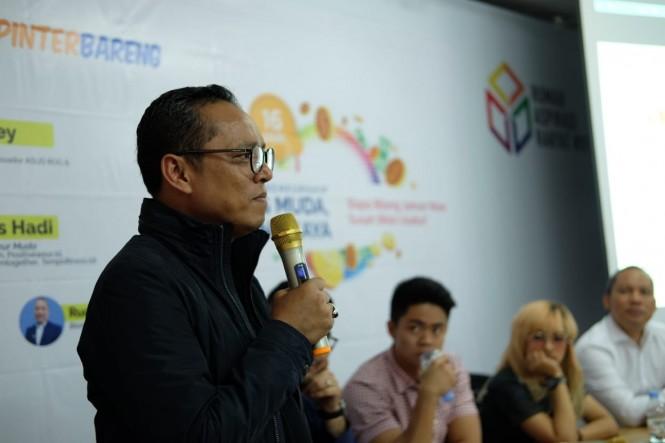 Kepala Kantor Rumah Aspirasi #01, Deddy Sitorus saat mebuka diskusi tentang entrepreneurship, Rabu, 16 Januari 2019. Istimewa