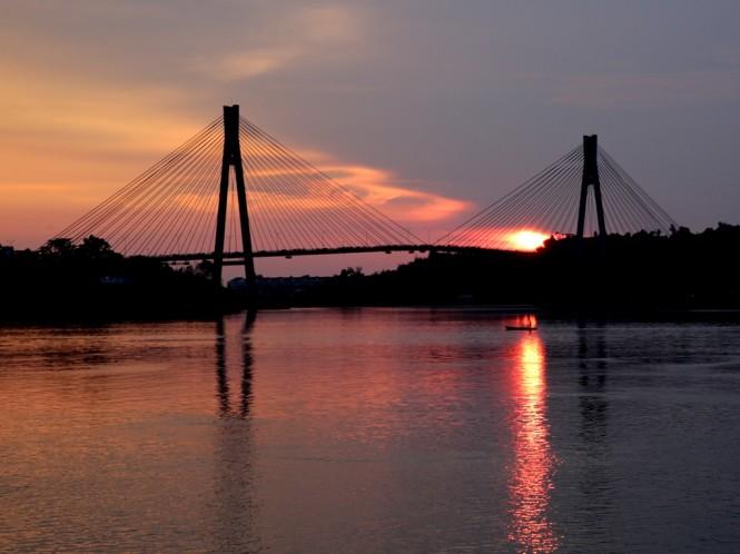 Jembatan Barelang di Kota Batam. Foto: Antara/Irwansyah Putra.