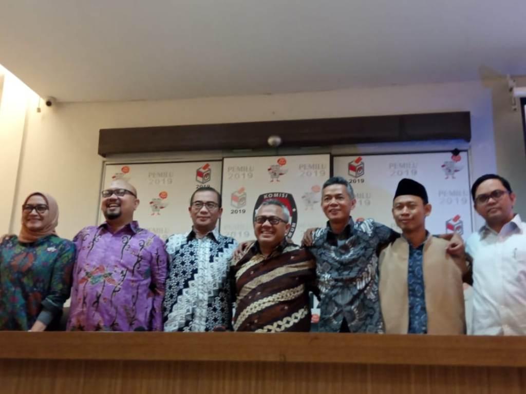 KPU sediakan ruang khusus suporter di debat Pilpres 2019. Foto: Medcom.id/Kautsar Widya Prabowo.