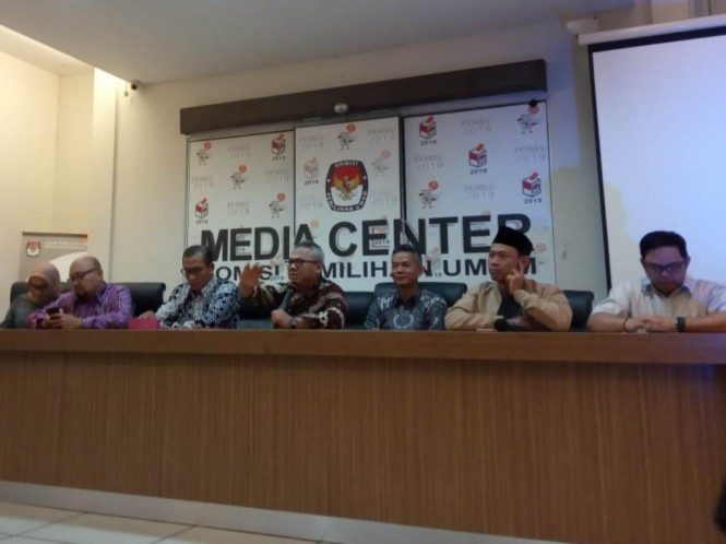 ?KPU imbau paslon tak tanyakan isu SARA saat debat. Foto: Medcom.id/Kautsar Widya Prabowo.