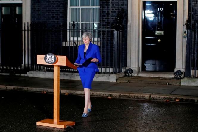 PM Inggris Theresa May berpidato usai memenangkan mosi tidak percaya. (Foto: AFP)