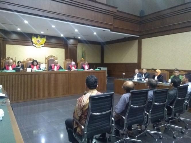 Sidang kasus suap hakim Pengadilan Tipikor Medan. Foto: Medcom.id/Kautsar Widya Prabowo.