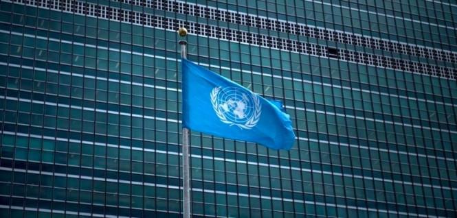 Bendera PBB berkibar di markas besar PBB di New York, Amerika Serikat (AS). (Foto: AFP).