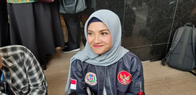 Konsultan Debat Tim Kampanye Nasional (TKN) Joko Widodo-Ma'ruf Amin, Tina Talisa. Foto: Medcom.id/Whisnu Mardiansyah.