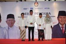 Jokowi-Maruf Kompak Mengenakan Baju Putih