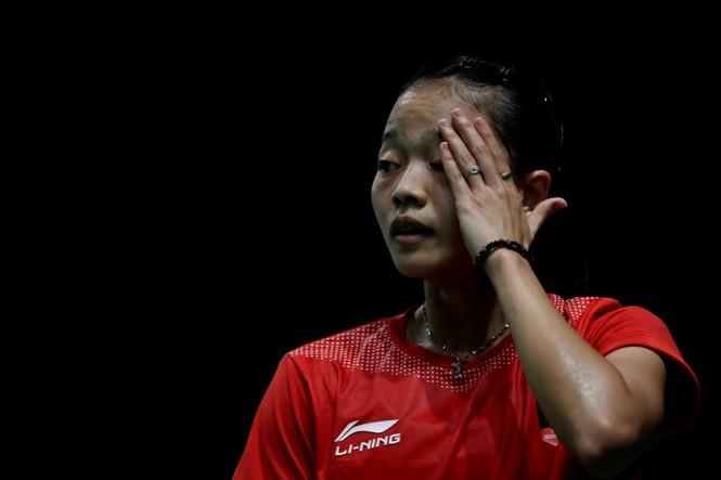 Fitriani saat tampil di Asian Games 2018. (Foto: ANTARA/INASGOC/Puspa Perwitasari)
