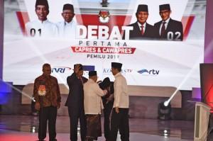Serunya Debat Perdana Capres-Cawapres 2019