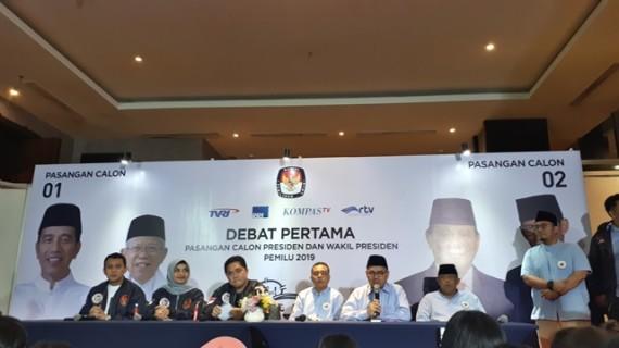 Jokowi-Ma'ruf Sebarkan Optimisme Melalui Debat