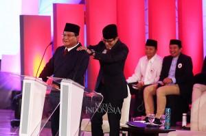 Momen Menarik Debat Perdana Capres-Cawapres 2019